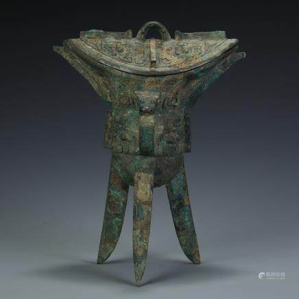 A Chinese Bronze Cup