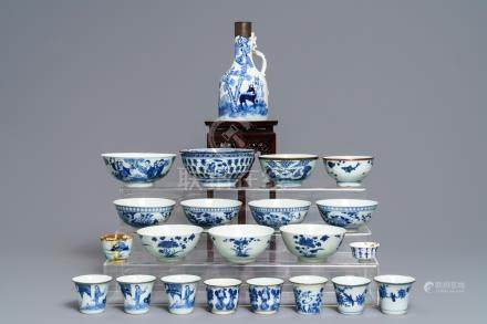 A collection of Chinese 'Bleu de Hue' wares for the Vietnamese market, 19th C.