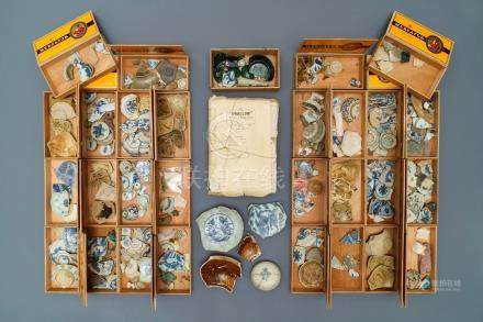 An important documented collection of archeological finds of Chinese Southeast Asian market porcelain, Malaysia, Indonesia, ...