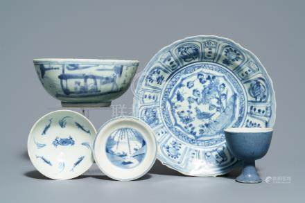 Five Chinese blue and white wares, Hatcher cargo, Transitional period