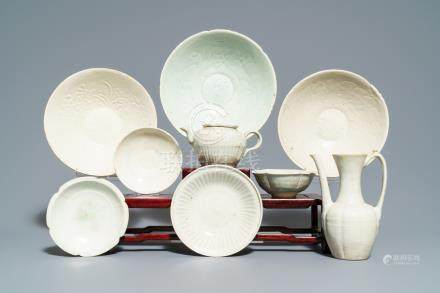 Nine Chinese qingbai porcelain wares, Song