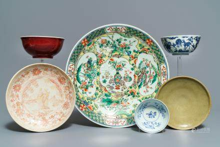 A varied collection of Chinese porcelain, Ming and later