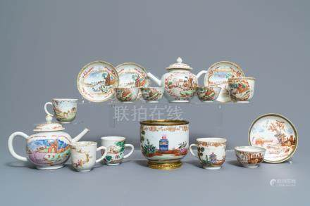 A varied collection of Chinese famille rose export porcelain, Qianlong