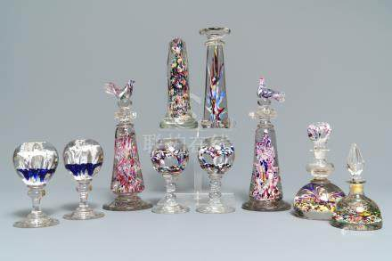 Ten glass paperweights, France, 18/19th C.