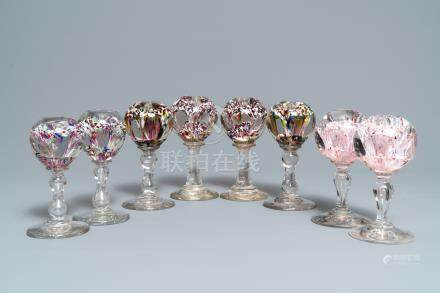 Eight glass paperweights, France, 18/19th C.
