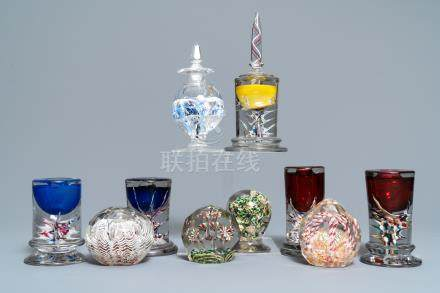 Ten glass paperweights, France, 18/20h C.