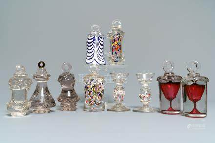Ten glass paperweights, France, 18/20th C.