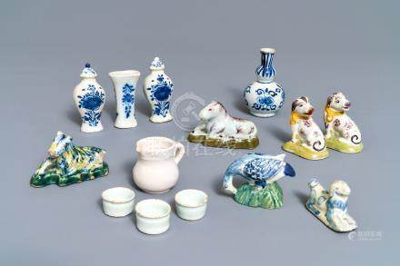 A collection of Dutch Delft miniatures, 18th C.
