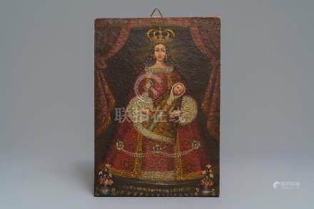 Cusco School, Peru: Virgen de Belén, oil on canvas, 18th C.