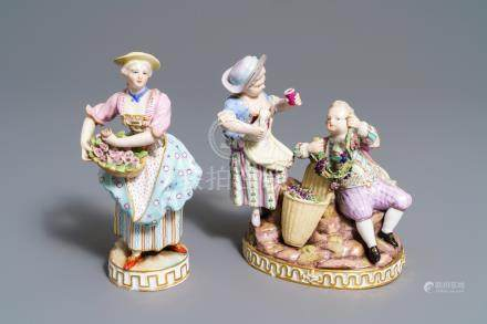 Two Meissen porcelain groups, Germany, 19/20th C.