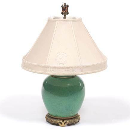 Chinese Enameled Ginger Jar Lamp