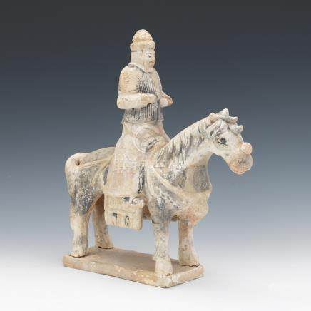 Ming Dynasty Style Terracotta Horse and Rider