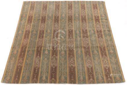 Fine Tibetan/French Savonnerie Hand-Knotted Square Carpet