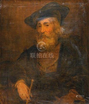 Ecole HOLLANDAISE du XVIIe siècle Portrait d'un  homme portant un chapeau Huile