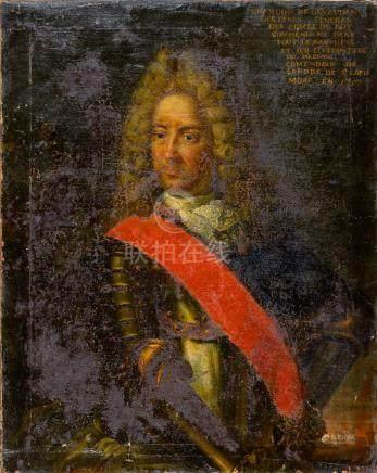 Ecole FRANÇAISE du XVIIe siècle Portrait de François de Gevaudan, Lieutenant Gé
