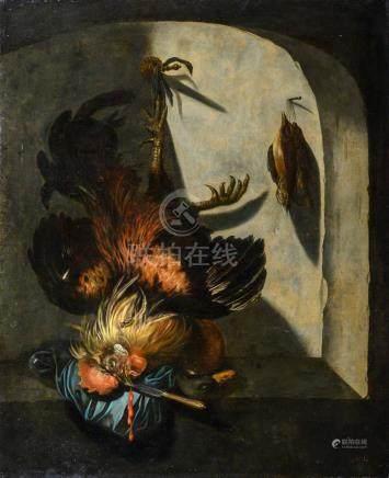 Attribué à Dirk VALKENBURG (1675-1721) Coq de bruyère et canard Toile 99,5 x 80