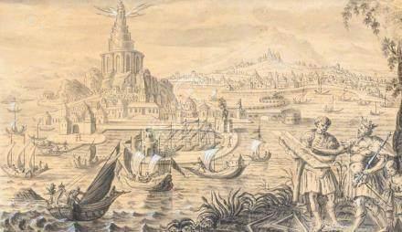 Ecole du NORD vers 1600, suiveur de Maarten van HEEMSKERCK La construction de l