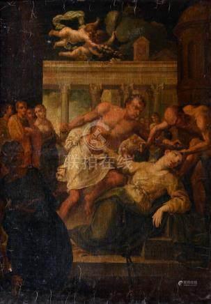 Ecole romaine du XVIIe siècle, suiveur de Andrea SACCHI Le martyre de Sainte Lu