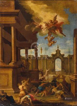 Attribué à Giovanni BOULANGER (1606-1660) Le Massacre des Innocents Toile 70 x