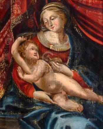 Madame la Marquise de Fouqueville Ecole FRANÇAISE du XVIIe siècle Vierge à l'en