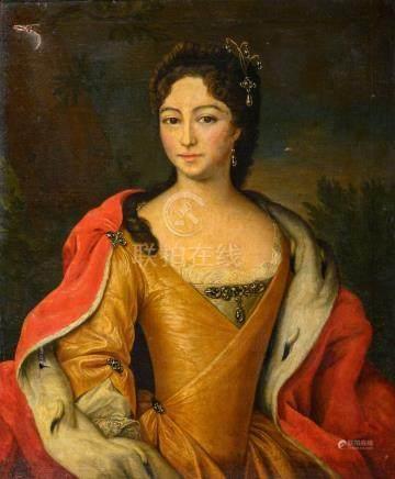 Ecole ESPAGNOLE du XIXe siècle Portrait de femme Sur sa toile d'origine 85 x 69