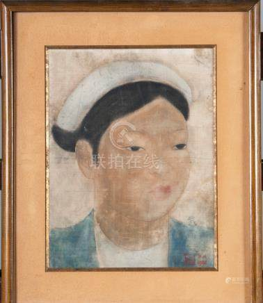 VU CAO DAM (1908-2000) PORTRAIT DE JEUNE FEMME, 1932 Huile signée et datée en b