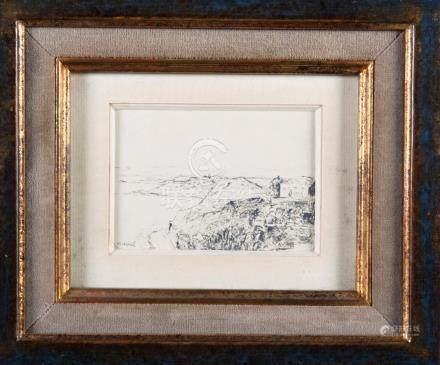 Albert MARQUET d'après  Sidi Bou Saïd Dessin  8,5 x 12 cm