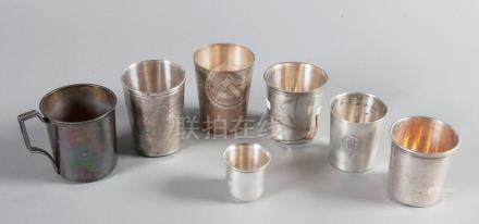 LOT SIX TIMBALES Argent
