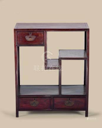 清代(1644-1911) 红木博古柜