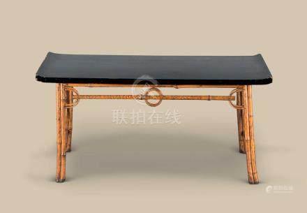 清代(1644-1911) 斑竹长方翘头小案