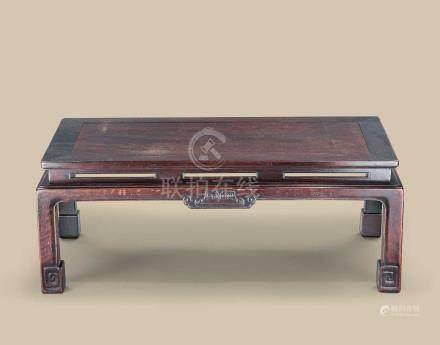 红木如意云纹长方桌