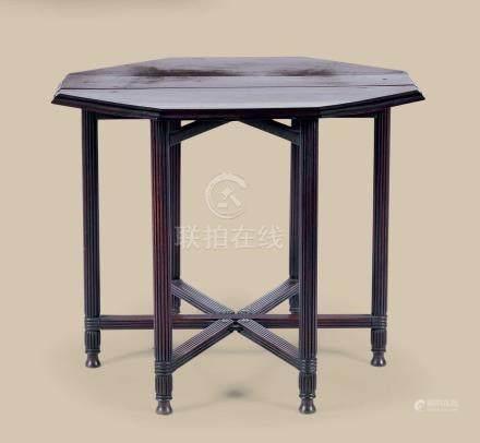 红木折迭八角六足桌