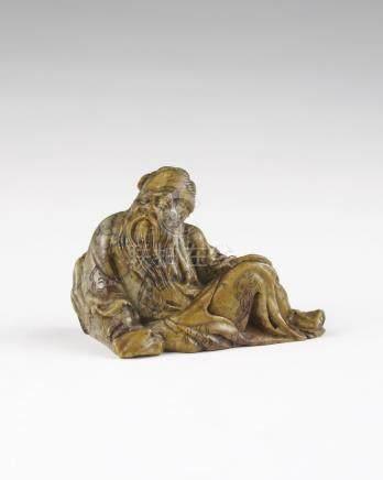 清 寿山石雕老翁