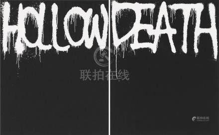 村上隆-黑Death、黑Hollow (二件一组)