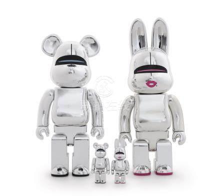 BE@RBRICK-空山基‧库柏力克熊、兔 (四件一组)