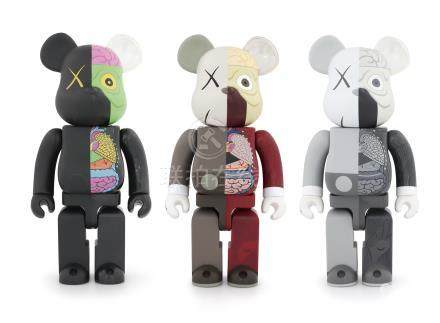 BE@RBRICK-KAWS COMPANION‧库柏力克熊 (三件一组)