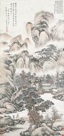 王石谷(黄易题)-仿天游生小景