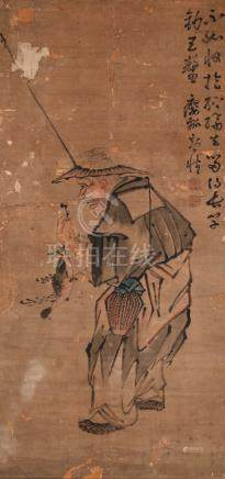 黄慎-渔翁