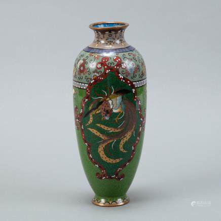 Japanese Meiji Cloisonne Vase - Phoenix
