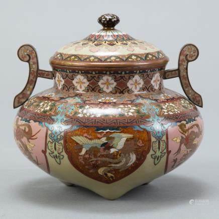 Japanese Meiji Cloisonne Censer