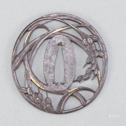 Japanese Edo Period Iron Tsuba by Masatsuna