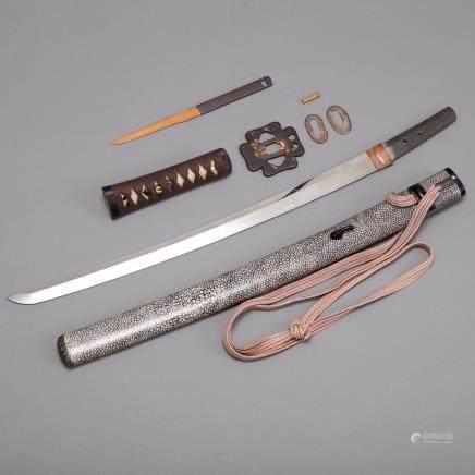 Japanese Wakizashi Sword Naminohira Yukiyasu