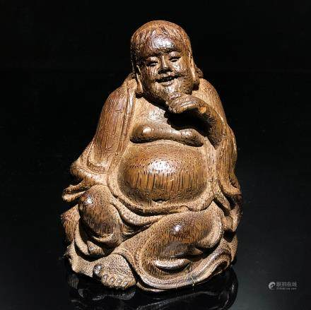 CHINESE WOOD CARVED HOTEI