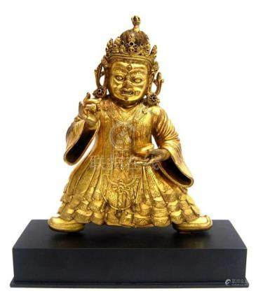 A Gilt Bronze Alloy Figure of Mahakala