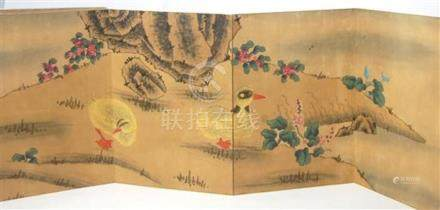 A Chinese Album Ce Ye, Water Based Woodblock Print, Signed,