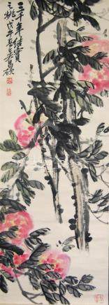 A Chinese Hanging Scroll, Ink & Colour on Paper, Attribute t