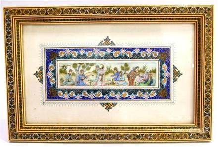 A Miniature Painted on Ivory with an illuminated Border, I n
