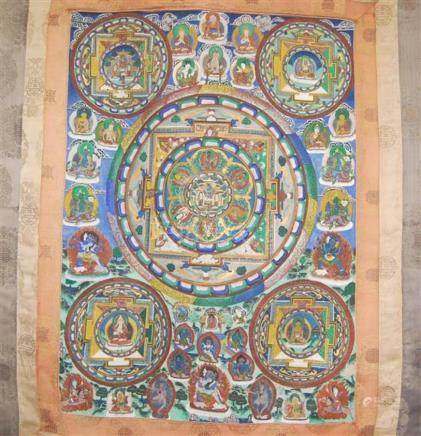 Tibetan Buddhist Thangka,