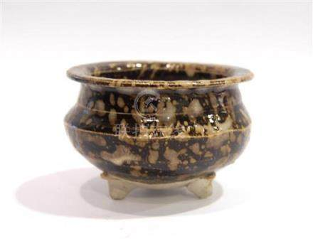 A Tortoiseshell Glazed Censer, Jizhou Ware, with Everted Mou