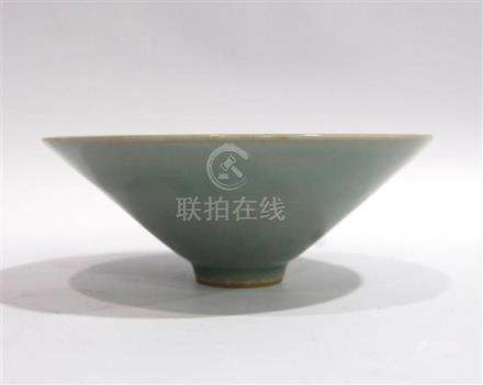 A Chinese Celadon Conical Shaped Bowl with a Smooth Even Gla